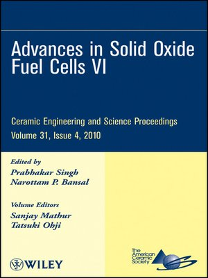 cover image of Advances in Solid Oxide Fuel Cells VI